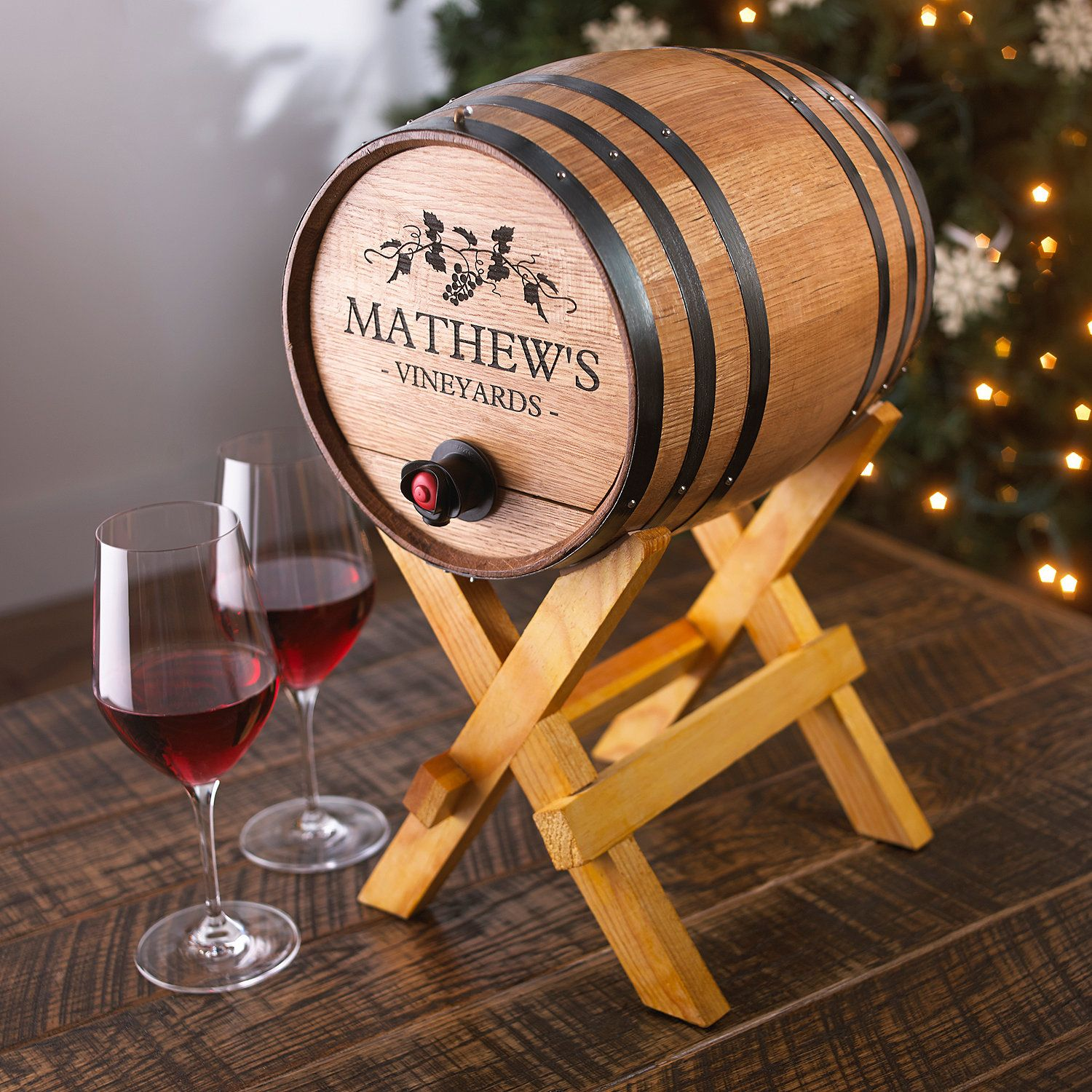 Customize Wine Barrel With Love Message
